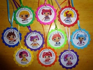 LALALOOPSY DOLLS personalized gift tags birthday party favors supply