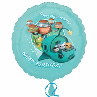 18 Octonauts Party Adventure Happy Birthday Round Foil Balloon