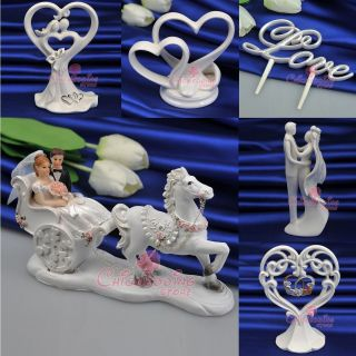 Styles Ivory Porcelain/Resin Wedding Cake Toppers Supply Love Cake