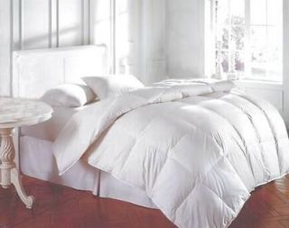 Bedding King White Feather Down Bed Comforter 64 Oz