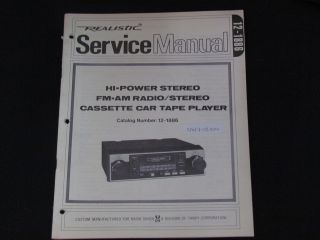 HI  POWER FM/AM RADIO /STEREO CASSETTE CAR TAPE PLAYER SERVICE MANUAL