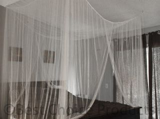 Netting Mosquito Net White Four Corner Canopy Queen King Bedding New