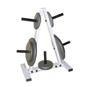 CAP Barbell Standard Plate Rack, Black and White Work Out Weights
