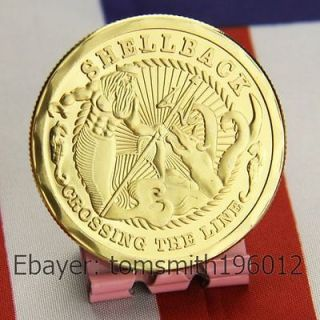 Newly listed U.S Navy Shellback / Military Challenge Coin 370