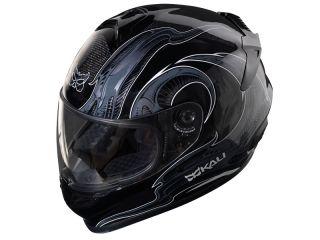 Kali Naza Carbon  Horns Graphic Street/ Motorcycle Helmet