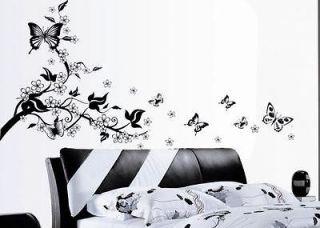 POPULAR Floral Butterfly Vine Wall Sticker Art Decor Mural paper Vinyl