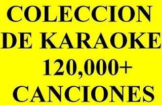 Coleccion Karaoke 120K+ Canciones Pistas + Letra CDG para DJ DJs DJs