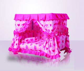 New Princess Pet Dog Cat Bed House Sofa Mat Kennel Cover taken Pink