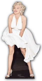 MARILYN MONROE WHITE DRESS BLOWING UP CARDBOARD CUTOUT