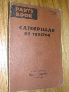 CAT Caterpillar D8 PARTS MANUAL BOOK CATALOG TRACTOR DOZER BULLDOZER