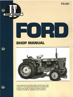 FORD FORDSON MAJOR DIESEL & POWER MAJOR TRACTOR SHOP REPAIR MANUAL