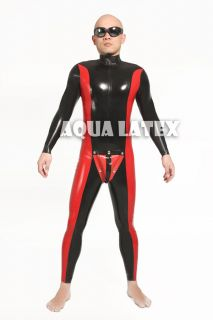 Tight Latex Catsuit, Rubber Catsuit, with Codpiece (Free Shipping)