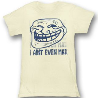 You Mad U Mad Bro I Aint Even Mad Juniors Vintage White T Shirt