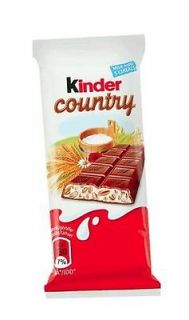 10x Kinder Country Chocolate Bar 24g each bar