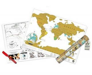 Scratch Personalized Travel World Map Poster Size 42 x 29.7 cm