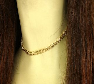 DESIGNER CARTIER 18K GOLD STYLISH MARINER LINK CHAIN NECKLACE