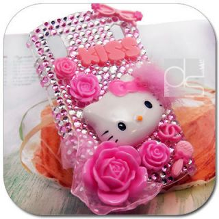 Hello Kitty Bling Gem Hard Skin Case Cover ZTE Skate V960 / Orange