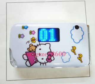 Unlocked Hello kitty Cell phone 2014 white Dual Sim Card TV FM Piano