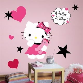 Hello Kitty   Couture Peel & Stick Giant Removable Wall Decals