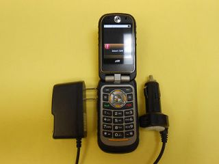 NEXTEL/ BOOST Motorola i680 Brute PTT Cell Phone+ HOME&CAR CHARGE