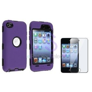 3PIECE HARD/SKIN CASE COVER+PROTECTOR FOR IPOD TOUCH 4 4G 4TH GEN
