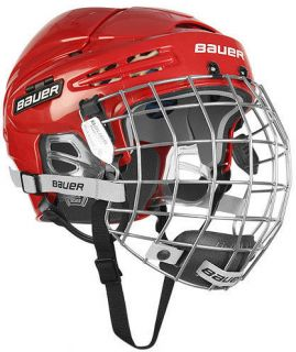 New Bauer 5100 Hockey Helmets w/Cage   Red