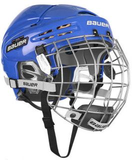 New Bauer 5100 Hockey Helmets w/Cage   Royal
