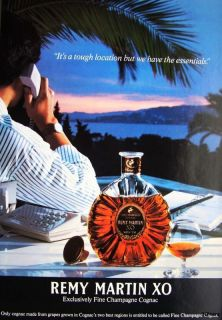 1991 REMY MARTIN XO Cognac Brandy AD #1   Original Print ADVERT