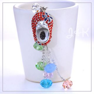 Swarovski Crystal Baby shoes Cell Phone Camera Purse Charm Red