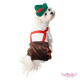 Lederhosen German Beer Oktoberfest Halloween Dog Pet Costume Outfit