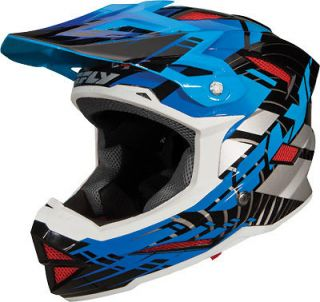Default Blue Full Face Helmet BMX MTB Bike Snow  Adult & Youth Sizes