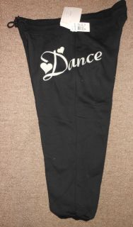 Motionwear Black White Dance HIP HOP Jazz Sweat Pants Unisex 3908