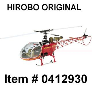Hirobo LAMA SA 315B .30 RED SCALE HELICOPTER Part # 0412 930 NEW IN
