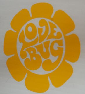 LOVEBUG beetle car sticker love bug vw decal herbie daisy