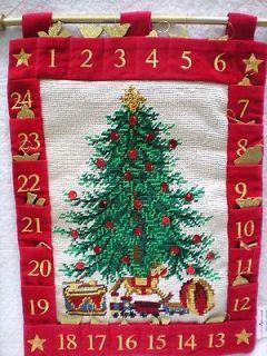 Needlepoint Christmas Lillian Vernon child Advent Calendar