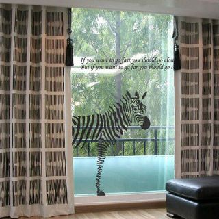 WORLDWIDE SHIPPING] BIG ZEBRA Home Decor Art Vinyl Wall Decal