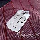 STAINLESS STEEL INITIAL T DOG TAG PENDANT NEW n298 / FASHION JEWELRY