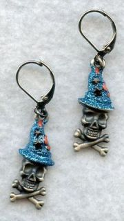 KIRKS Folly BONES the WIZARD Halloween EARRINGS