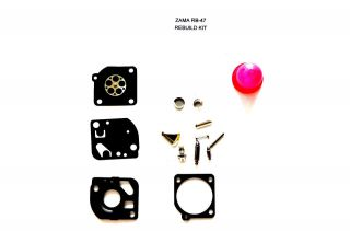 Carburetor Rebuild Kit for Zama RB 47 (for Poulan WeedEater trimmers)