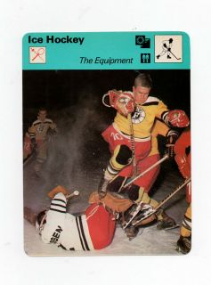 1978 SPORTSCASTER CARD ICE HOCKEY THE EQUIPMENT # 21 12
