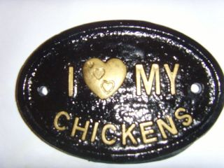 LOVE MY CHICKENS HENS EGG COOP DOOR HOUSE SIGN PLAQUE SHED