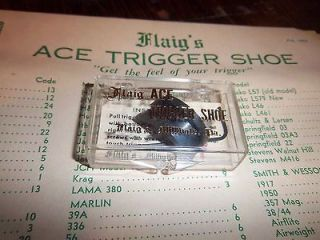 Flaigs Ace Trigger Shoe #18 for Pre War COLT Woodsman Pistol NEW