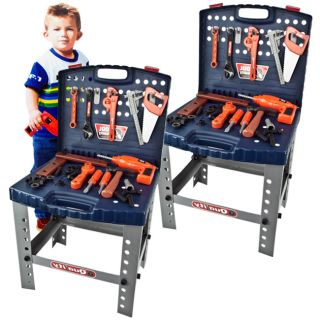 Tool Set Children Toy Workshop Boys Kids Pretend Play Bench Learning