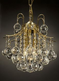 FRENCH EMPIRE CRYSTAL CHANDELIER LIGHTING GOLD FIXTURE PENDANT CEILING