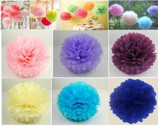 tissue paper pom poms Flowers Wedding Party Shower Home Decorations