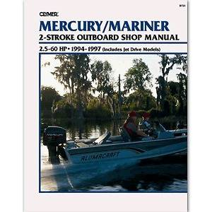 Repair Manual 2.5 60 HP Two Stroke Outboards & Jet Drive 1994 97