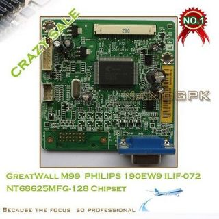 2PCS LCD driver board for GreatWall M99 PHILIPS 190EW9 ILIF 072