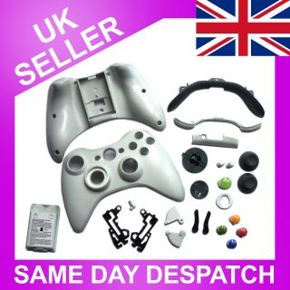 Complete Xbox 360 Wireless Controller Shell Replacement Kit WHITE
