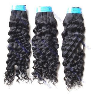 Brazilian Hair Extension Deep Wave Wavy Curly Long Human Remy Hair 12