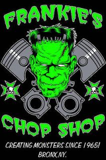 Chop Shop Work Shirt not Lucky 13 Rat Hot Rod Rockabilly Psychobilly
